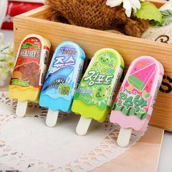 Nueva alta calidad libre del envío kawaii helado borrador escolar goma de borrar goma para los cabritos school supplies 0704