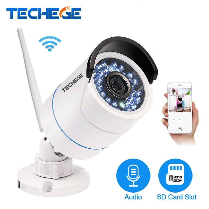 <font><b>Techege</b></font> Yoosee IP Camera Wifi 1080P 960P 720P Wireless Wired ONVIF P2P Night Vision Outdoor CCTV Camera SD Card Slot Max 64G
