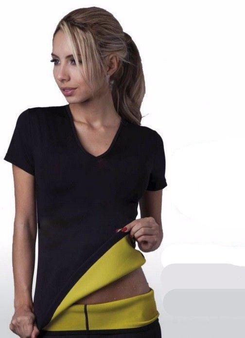 Chaude Shapers neotex t-shirt Stretch Néoprène Minceur Gilet Corps Shaper Contrôle Gilet tops Perte de Poids corset Reductoras Espartilho
