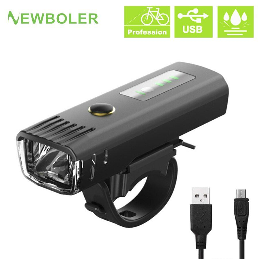 NEWBOLER 2500 mAh 300 Lumen lampe de poche pour vélo allemand Standard Induction vélo avant lumière USB Rechargeable lanterne vélo