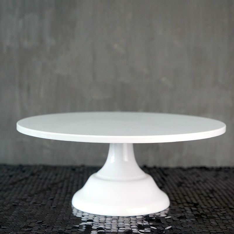 SWEETGO Grand baker gâteau stand 12 pouce blanc gâteau de mariage outils fondant ustensiles de cuisson de décoration de gâteau fournitures dessert tableau apparaît