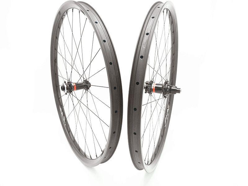 29er mtb räder 35mm UD hookless BIN carbon MTB räder XDS641 XDS642 boost XD 1420 speichen MTB bike räder gerade pull 6 klaue