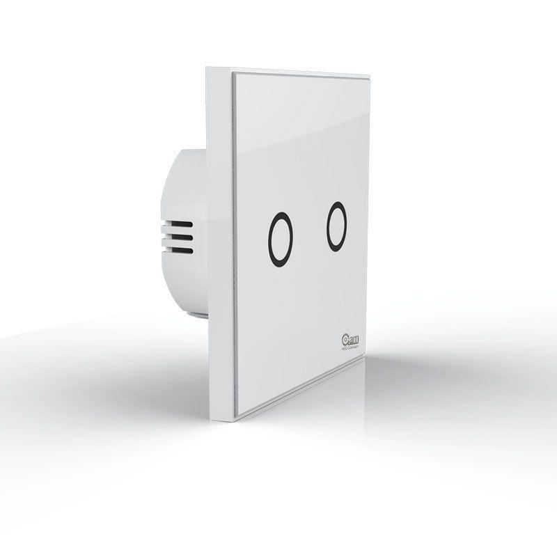 NEO COOLCAM NAS-SC01Z Z-wave Plus Wall Light Switch 2CH Gang Home Automation Z Wave Wireless Smart Remote Control Light Switch