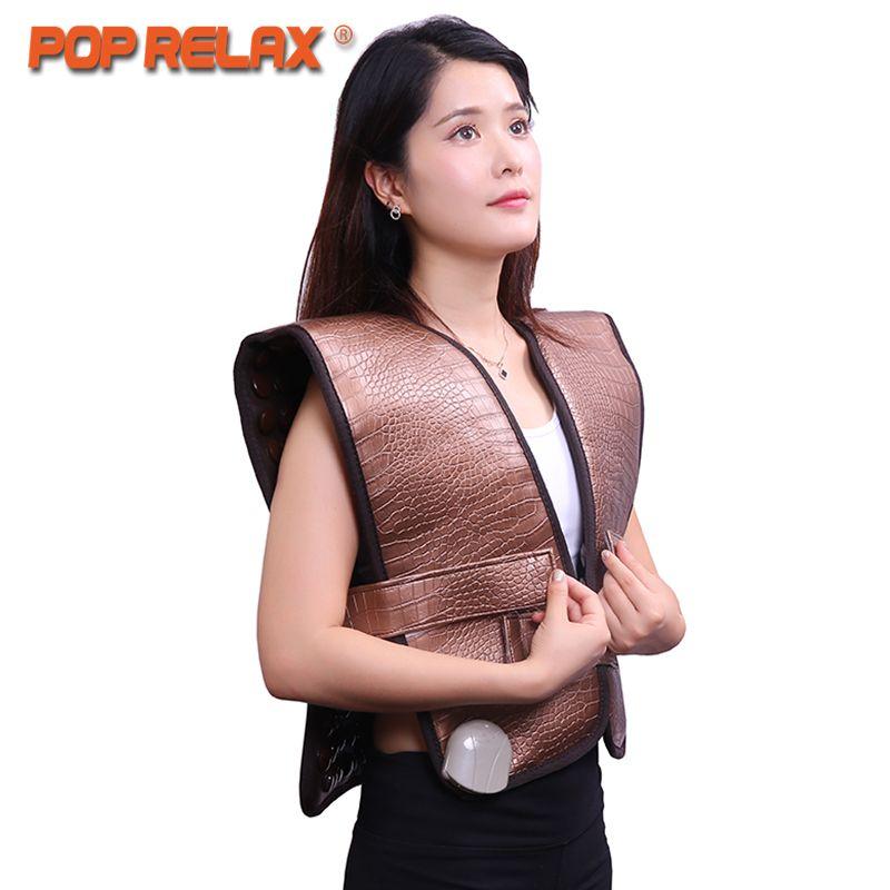 POP ENTSPANNEN gesunde elektrische heizung therapie zervikale gürtel turmalin produkte physiotherapie gerät matte schulter zurück massage gürtel