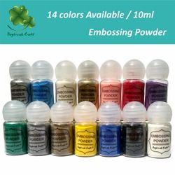 10 ml DIY Métallique Peinture Relief Poudre Brillant Couleur Gaufrage Pigment Stamping Scrapbooking Artisanat