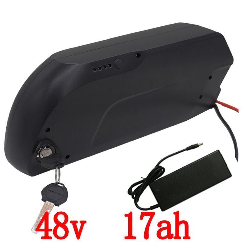 Free Customs e-bike battery use for Panasonic cell 48V 17Ah tiger shark E-bike li-ion battery for 8fun 48V 750W 1000W motor kit