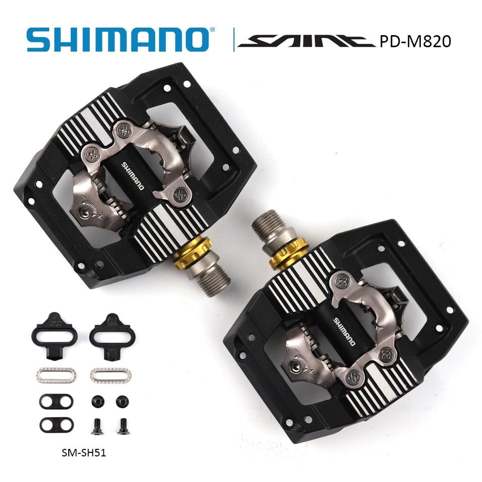 SHIMANO SAINT PD-M820 SPD Pedal XC/DH Downhill Enduro SPD Mountainbike Pedale inkl SM-SH51 Stollen + 1,0mm spacer