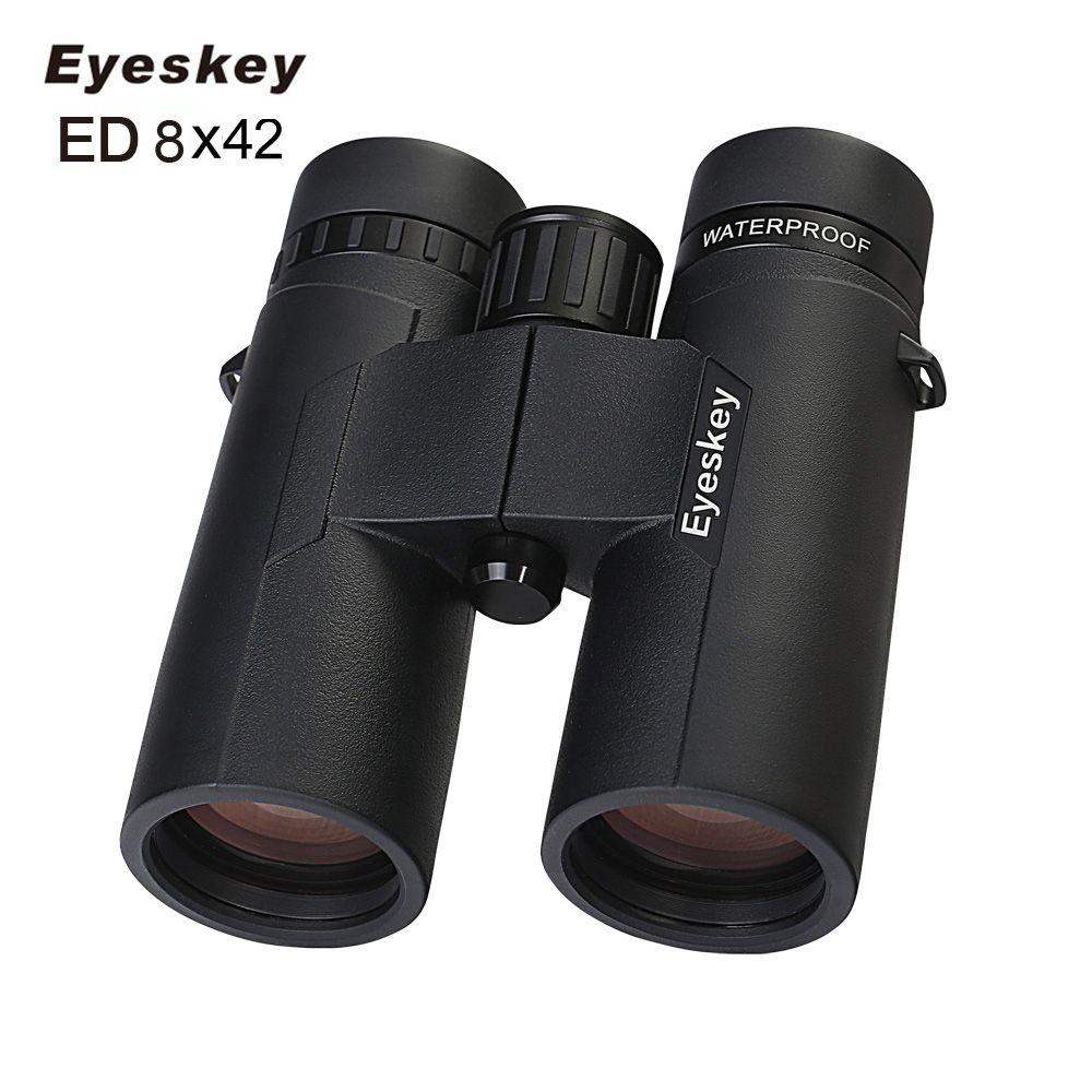 ED 8X42 Eyeskey Fernglas IPX8 Wasserdicht Professionelle Camping Jagd Teleskop Zoom Bak4 Prism Optics Mit Fernglas Strap