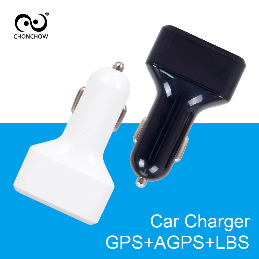 CHONCHOW Mini GPS Tracker Car Charger for Phone Buitl in GPS Listening Device GPS+AGPS+LBS Location Tracking White and Black