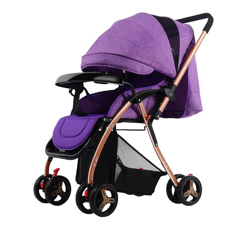 2017 Luxury High Landscape Baby Stroller Portable Ultralight Foldable Baby Pram Kinderwagen Kids Traval Pushchairs bebek arabasi