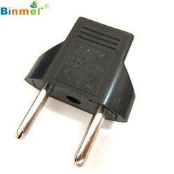 1 PC/2 PCS/5 PCS US à L'UE Voyage AC Power Socket Plug Adapter Adaptateur Convertisseur 2 Pin adaptateur adaptateur konverter adaptador