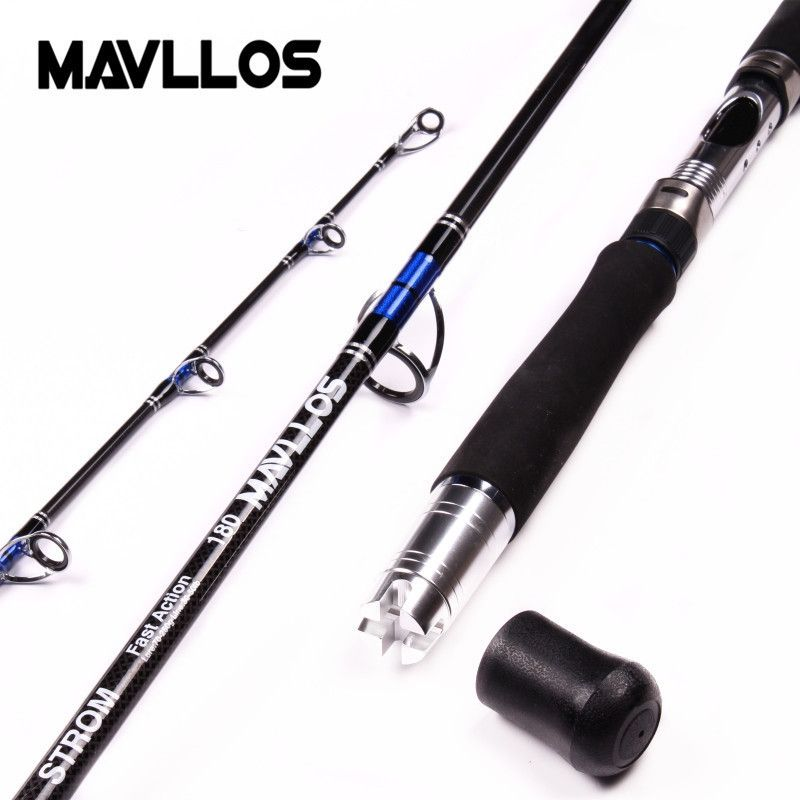 Mavllos Lure Weight 70-250g 3 Section Boat Jigging Fishing Rod 1.8m <font><b>Fast</b></font> Action Carbon Fiber Saltwater Fishing Spinning Rod Pole