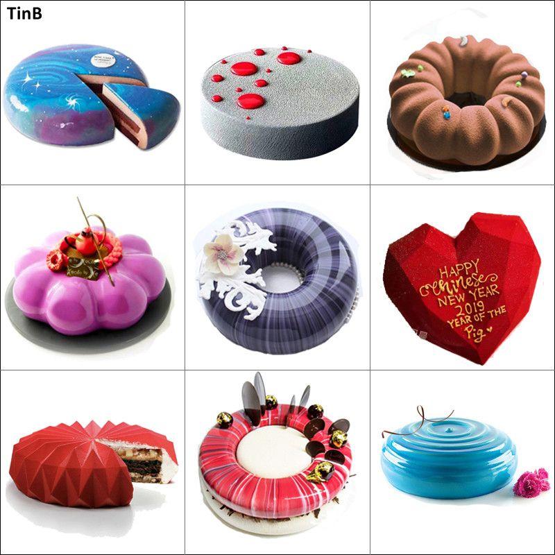 3D Silicone gâteau moule pour gâteau décoration outil Mousse Dessert Silicone moule pour cuisson moule gâteau décoration outil cuisson casserole