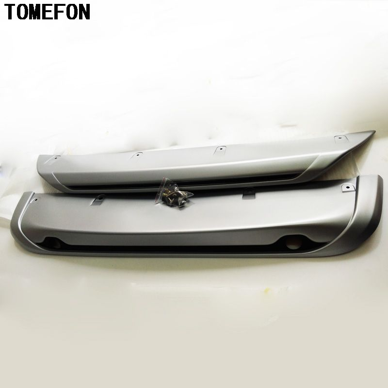 TOMEFON For Nissan Qashqai Dualis J11 2014 2015 2016 2017 Auto Accessories ABS Front & Rear Bumper Protector Skid Plate 2Pcs