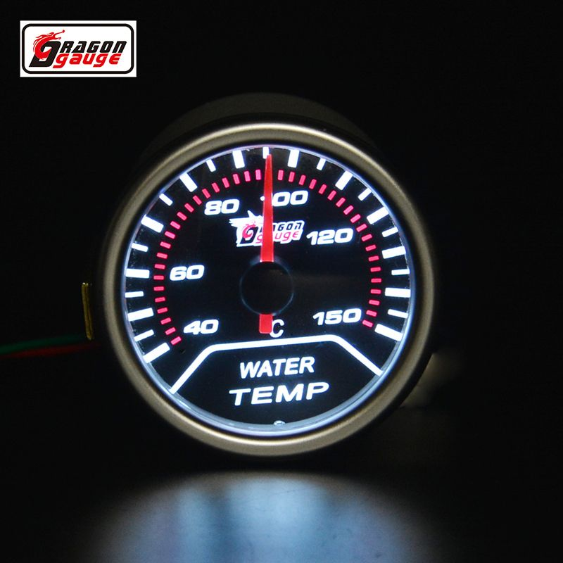 52mm pointer car motorcycle Racing Refit Water temperature gauge White backlight 40-150 Centigrade Free shipping