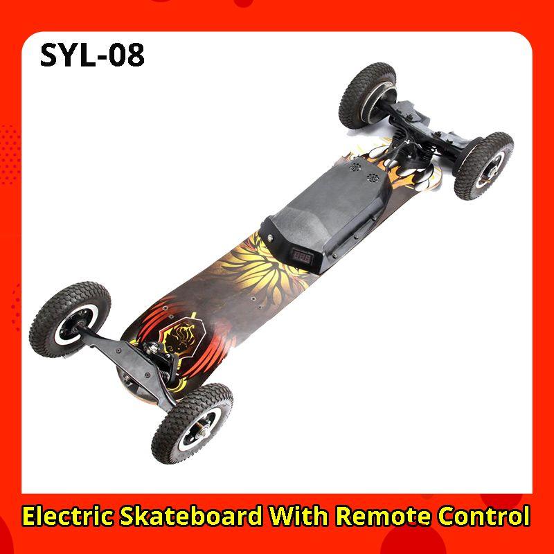 SYL-08 Elektrische Elektrische Roller Elektrische Skateboard Mit Fernbedienung Off Road Typ erwachsene patinete vs e roller hulajnoga