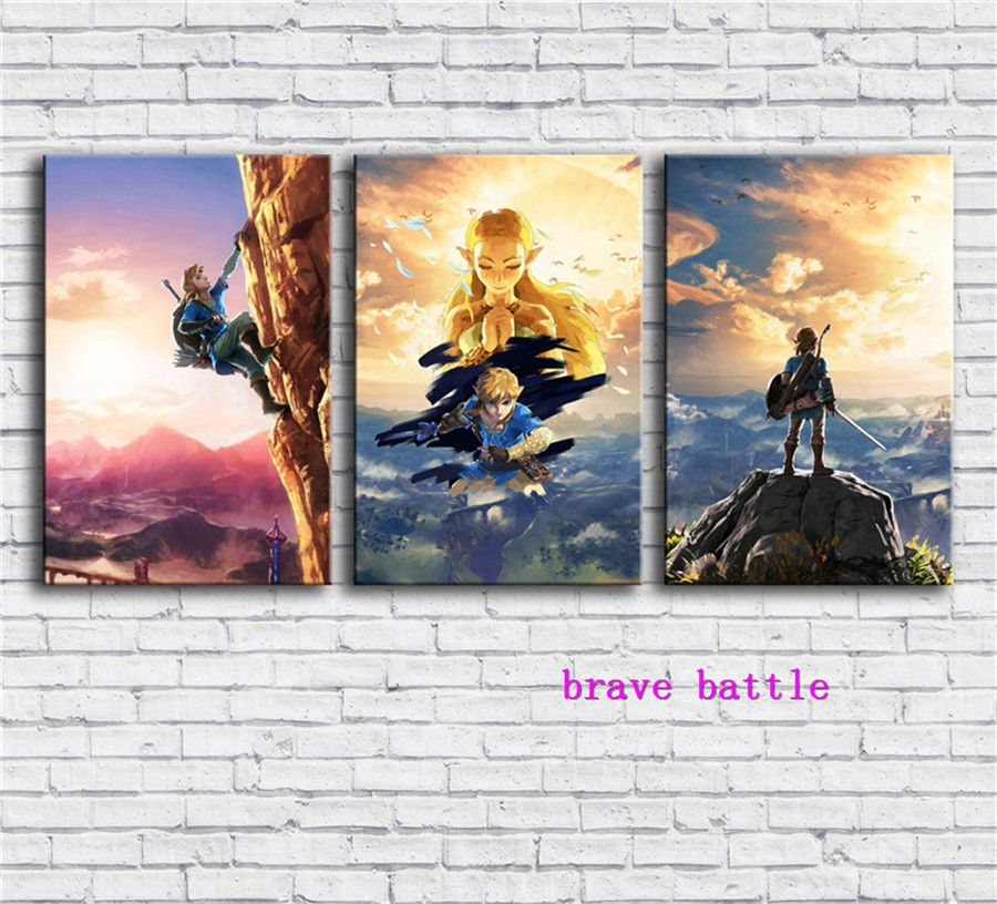 The Legend of Zelda ,Breath of The Wild Games Canvas Painting Living Room Home Decor Modern Mural Art Oil Painting