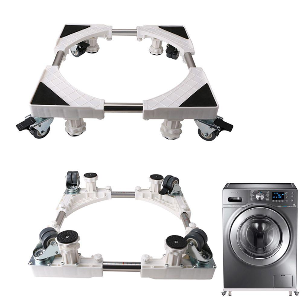 Beweglichen Einstellbare Basis mit 8 Locking Gummi Caster Räder Teleskop Möbel Dolly für Waschmaschine, Trockner, Kühlschrank