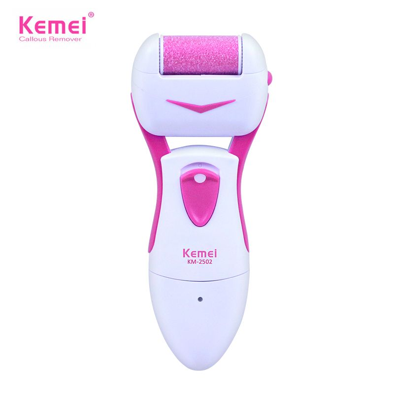 Kemei 110-220V Foot Care Tools Electric Exfoliator Pedicure Callus Skin Remover Personal Care Peeling Foot Massager