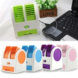 Mini USB Petit Ventilateur De Refroidissement Portable De Bureau Double Sans Lame Climatiseur