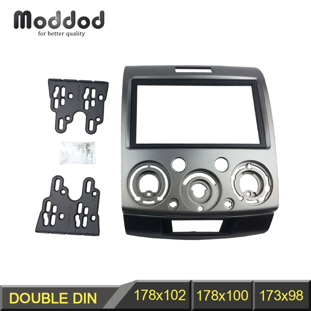 Panneau Radio stéréo pour Ford Everest Ranger Mazda BT-50 BT50 Double 2 Din Fascia tableau de bord Installation kit d'outils pour habillage plaque frontale