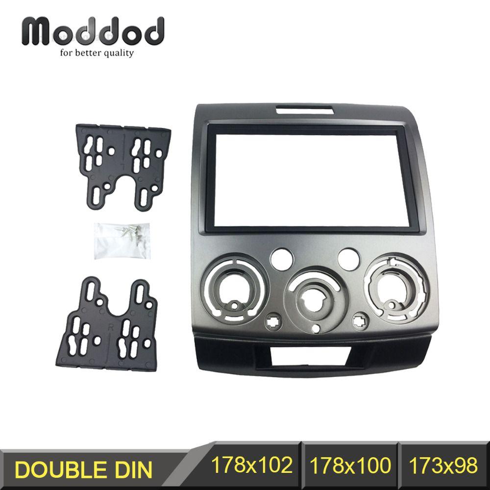 Panneau stéréo Radio pour Ford Everest Ranger Mazda BT-50 BT50 Double 2 Din Fascia Installation du tableau de bord kit d'outils pour habillage lunette de plaque frontale