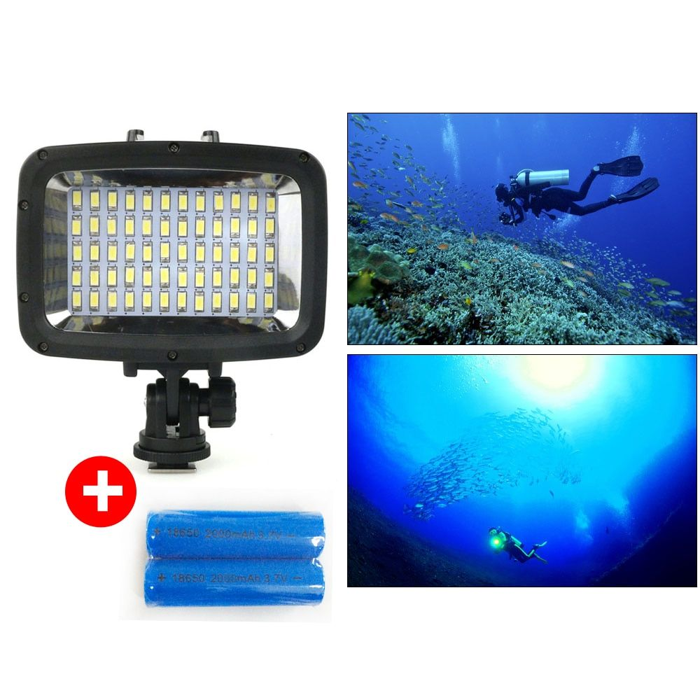 Orsda Diving LED Video Light 40M Waterproof Underwater LED Photography CCTV Camera Lighting LED Outdoor Cameras Lamp SL-101 Case