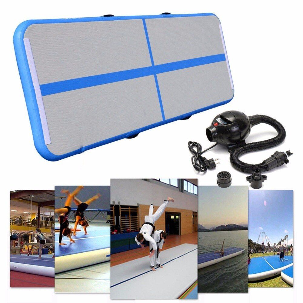 Inflatable Gymnastics AirTrack Tumbling Air Track Floor Trampoline Electric Air Pump for Home Use Training Cheerleading 1 Pump