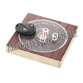 XF  Remote Control Dice With 15cm*15cm Board Dice Game Cheat Magic Show Gadget