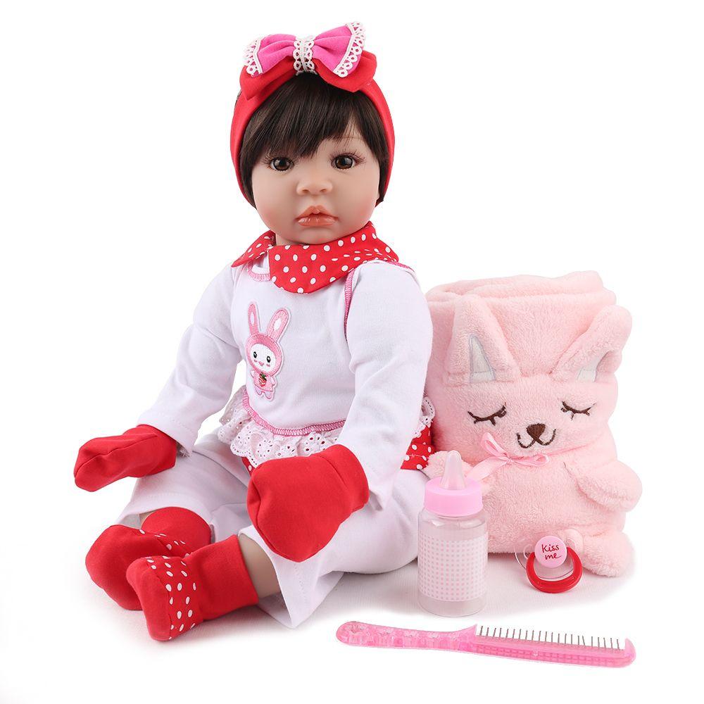 NPKDOLL Reborn Baby Doll Lifelike Bebe Boneca Soft Vinyl Promotion Adorable Girl Cute 22 inch Birthday Christmas Gift For Kids