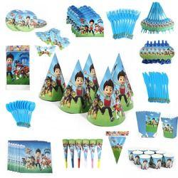 Gros Tripoté Patrouilles Bébé joyeux Anniversaire Partie Décoration Serviettes En Papier Plaques Tasses thème de fêtes pour enfants