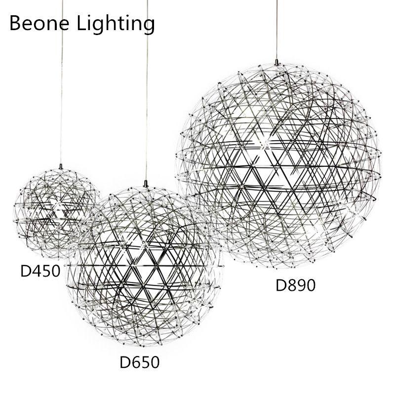 D80cm 92 leds Stainless Steel Ball LED Firework Pendant Lights Lamps for Restaurant Cafe Bar Dining Room home indoor lighting