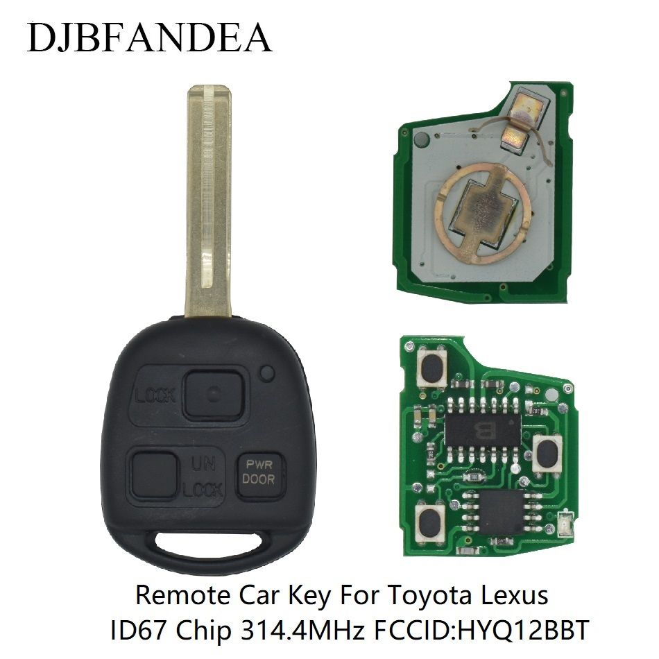 DJBFANDEA 3Buttons Remote Car Key Fob For HYQ12BBT Toyota LEXUS RX330 RX350 RX400 2004-2009 With 314.4MHz ID67 Chip ASK Signal