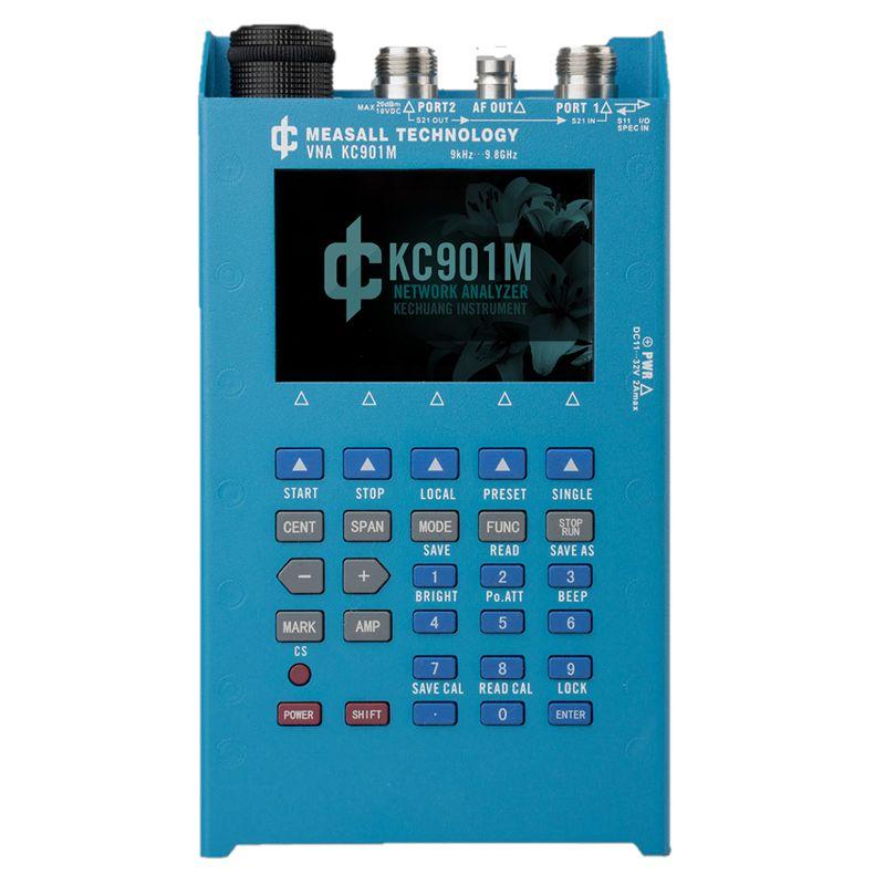 KC901M 9,8 GHz Handheld Netzwerk Analysator RF multimeter single port vector messung und 2-ports einfache vector netzwerk analyse