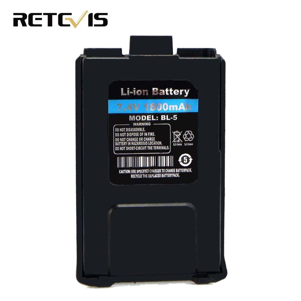 D'origine 1800 mAh Li-ion Batterie BL-5 Talkie Walkie Accessoires Pour Retevis RT5R Baofeng UV-5R UV5R Ham Radio