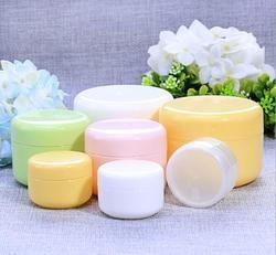10G/20G/50G/100G Isi Ulang Botol Plastik Kosong Makeup Pot Jar Perjalanan Wajah cream/Lotion/Wadah Kosmetik Gratis Pengiriman