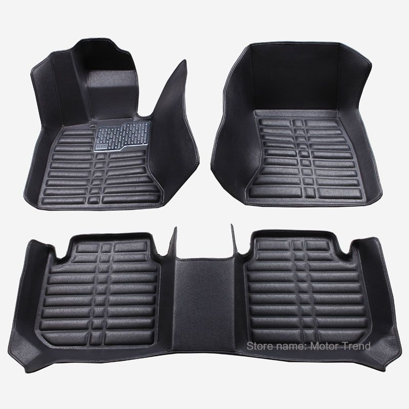 Custom fit car floor mats for Audi A1 A3 A4 B8 B7 B6 B5 A6 C6 C7 A8 A8L Q3 Q5 Q7 heavy duty car styling carpet foot case liner