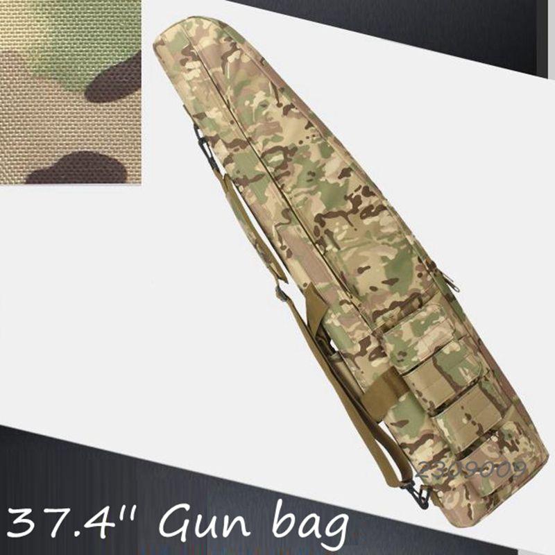 Multicam 37.4'' Gun case Tactical Gun slip Bevel Carry Bag Rifle Case Shoulder Pouch for Hunting Tactical Rifle Gun Bag