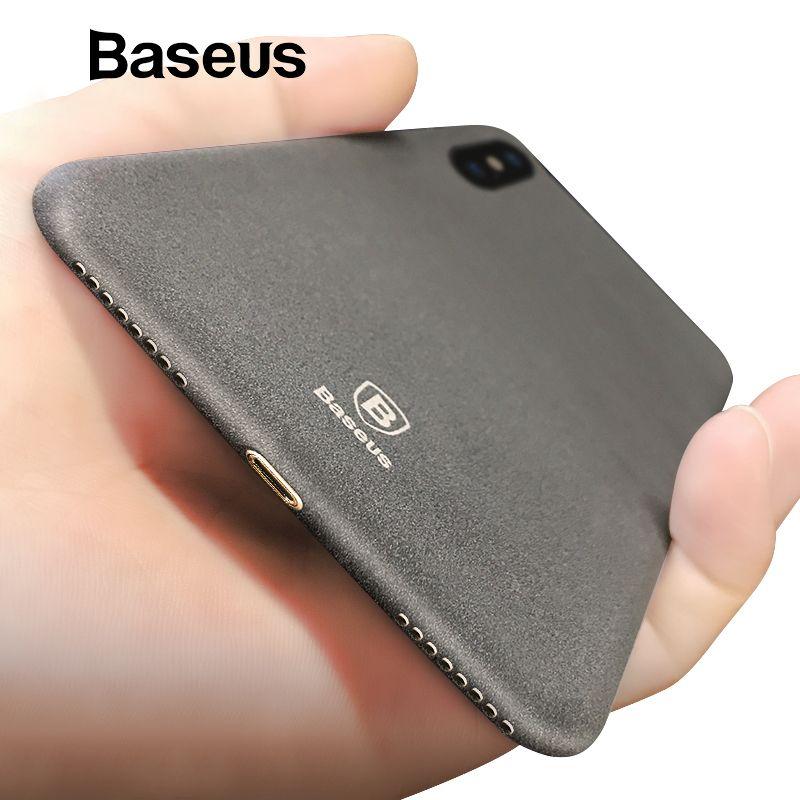 Baseus Ultra Dünne Hartplastik Fall Für iPhone X Luxus Retro Rocky Muster Fall für iPhone X Coque Funda