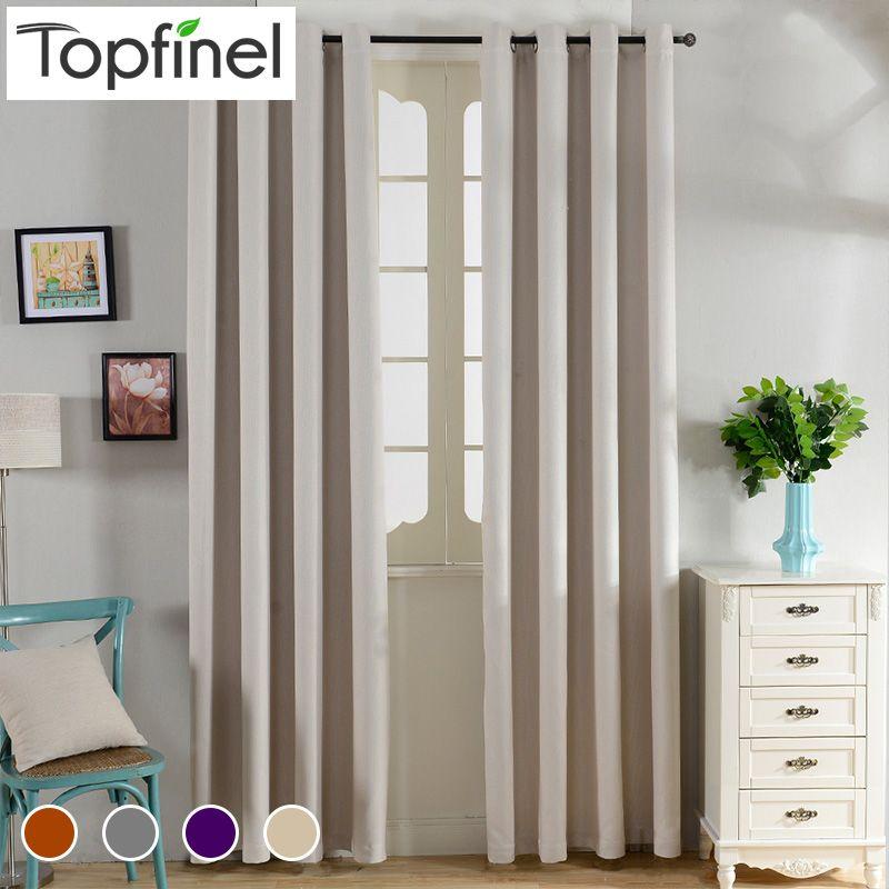 Top Finel solide isolation thermique rideaux occultants pour salon chambre fenêtre traitements chambre rideaux sombres panneau rideaux