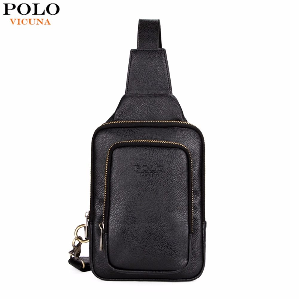 VICUNA POLO High Quality Trendy Mens Crossbody Bag Fashion Casual Men's Chest Bag Leisure Shoulder Bag For Male Hot Sale New