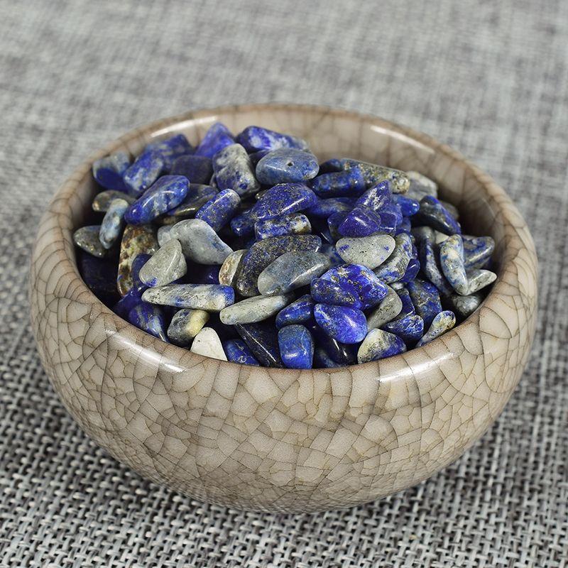 Extra 10 Gramm Frei Natürliche Kristalle Healing Reiki Lapis lazuli Chip Stein Edelstein Trommelstein Brunnen Garten Mineral
