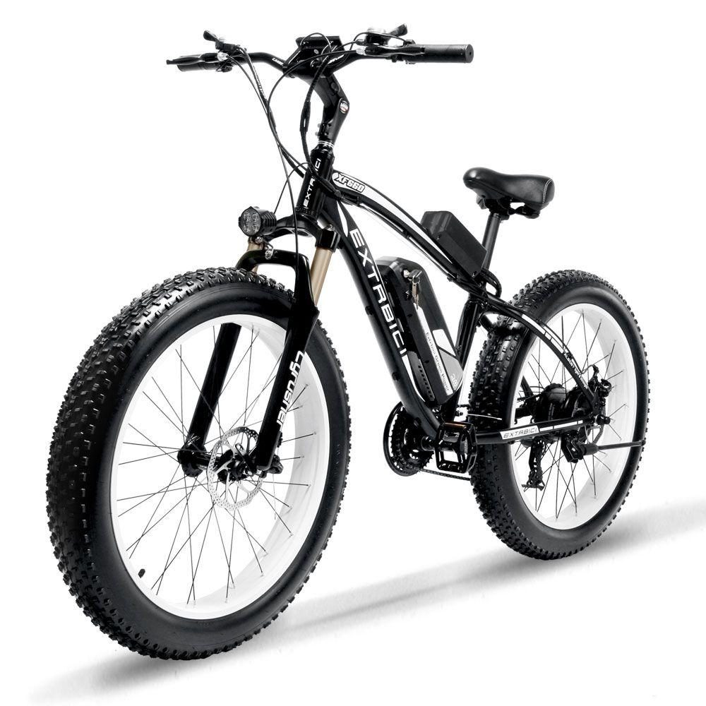 Cyrusher XF660 1000 W Elektrische Fahrrad mit Fernbedienung Locker Einstellbare Lenker Fett Reifen e-bike 21 Geschwindigkeiten Elektrische fahrrad
