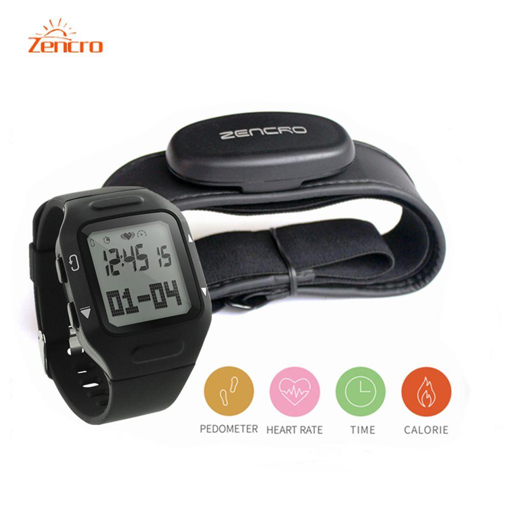 Zencro Training Mode Fitness Tracker Calories Pedometer Heart Rate Sensor Wristband Watch