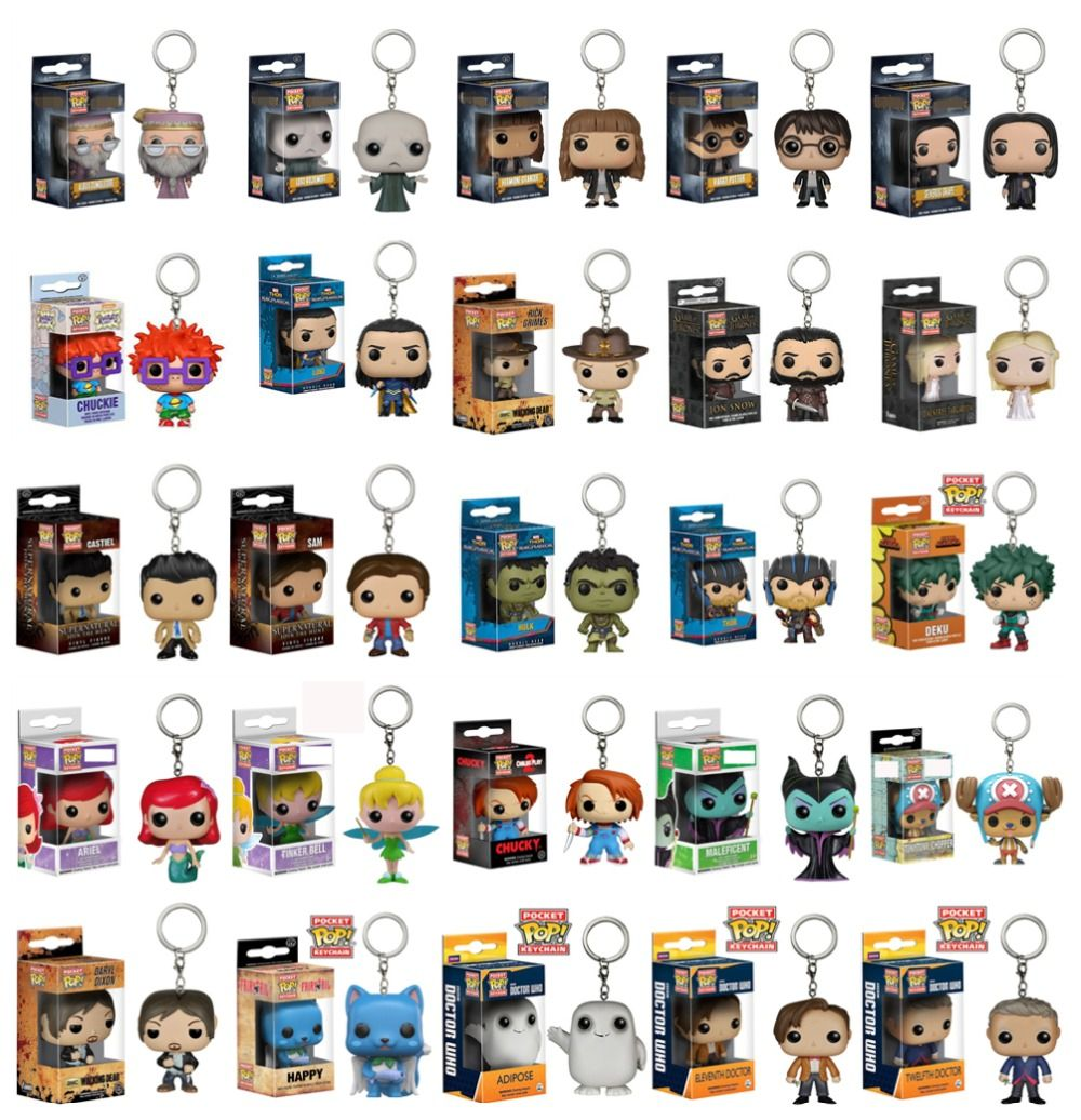 FUNKO POP New Pocket Pop Keychain Original Action Figure Marvel Avengers Potter Model cute Toys Christmas Present Gift