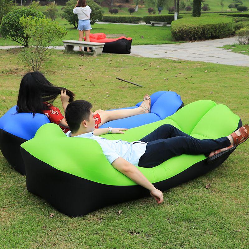 2019 tendance produits de plein Air rapide gonflable Air canapé-lit bonne qualité sac de couchage gonflable airbag paresseux sac plage canapé Laybag