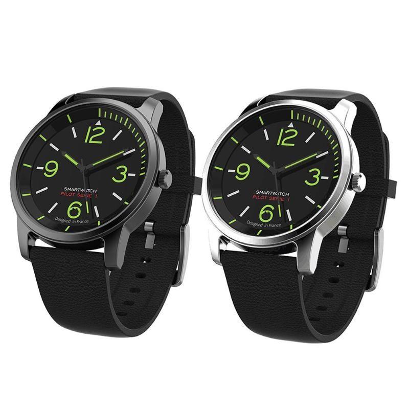 vanpower S-69 30ATM Waterproof Quartz Men watchwrist Leather and Sports Clock Watch night Vision Bluetooth Smart Watch