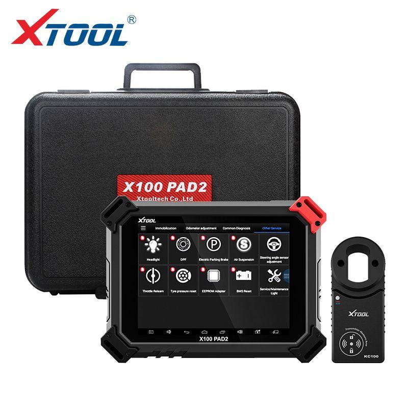 X100 PAD2 Pro Berufsdiagnosewerkzeug Und schlüssel programmierer mit VW 4th 5th IMMO und Brems Öl SAS BMS TMPS DPF funktionen