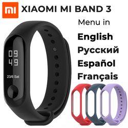 В наличии 2018 новый оригинальный Xiaomi mi браслет 3 Смарт-браслет, 0,78 дюймов OLED мгновенное сообщение идентификатор звонящего погода Forecate mi Band 3