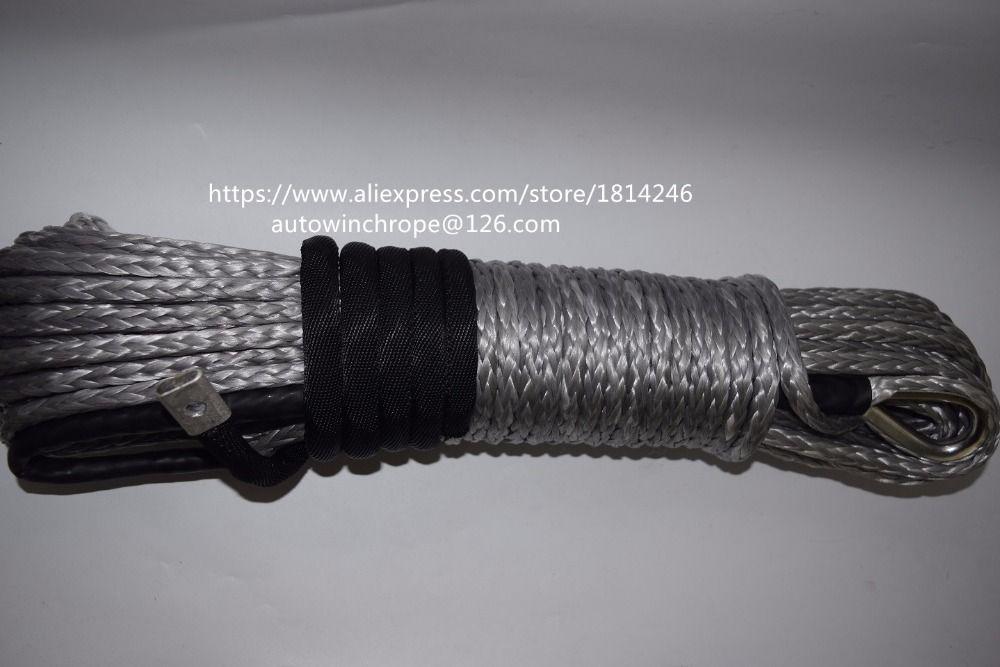 Kostenloser Versand Grau 8mm * 30 mt Windenseil Verlängerung, Off Road Seil, Beschichtet Winde Kabel, Kevlar Winde Kabel